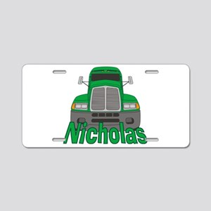 Trucker Nicholas Aluminum License Plate